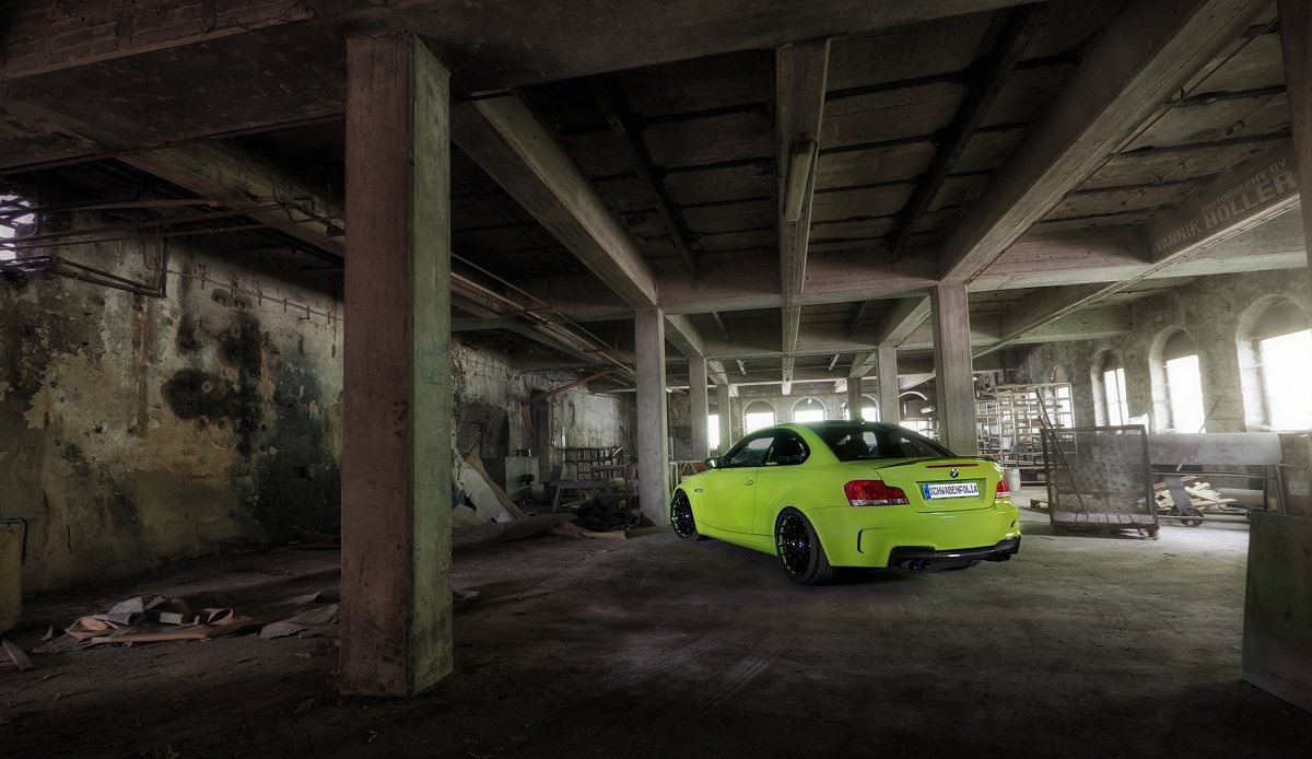 Lime Green BMW 1M