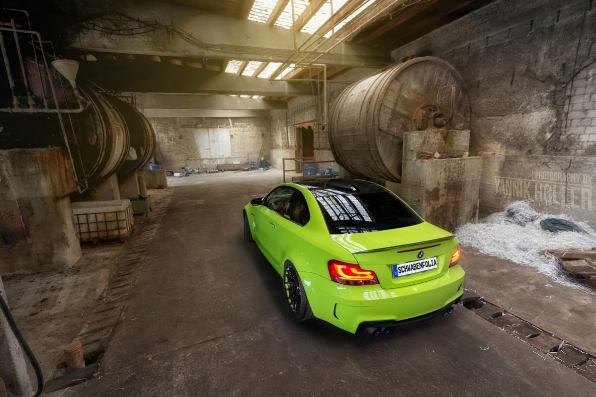 BMW 1M with custom green paint