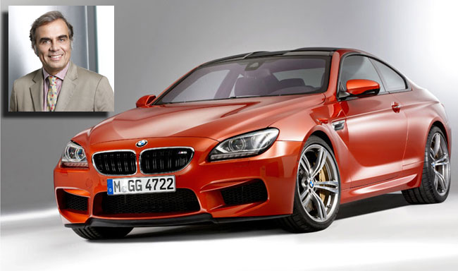 BMW M6 Coupe driving by BMW CEO Ludwig Willisch