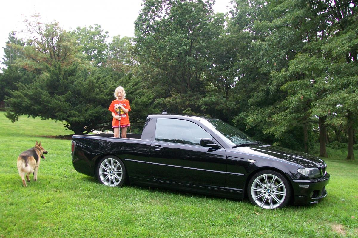 German el camino  Der StrAbe  E46 Chassis with a pickup bed