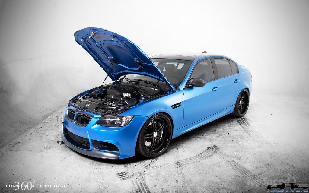 Matte Blue E90 M3 on 20s