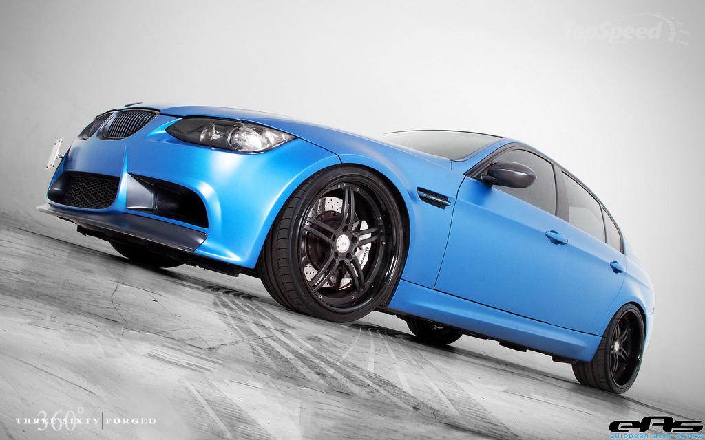 BMW M3 in matte estoril blue