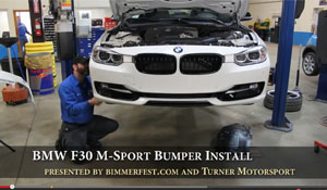 F30 M Sport Bumper Upgrade - Video Install