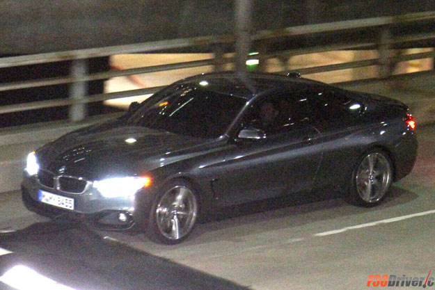 BMW F32 4 Series coupe caught exposed in the wild