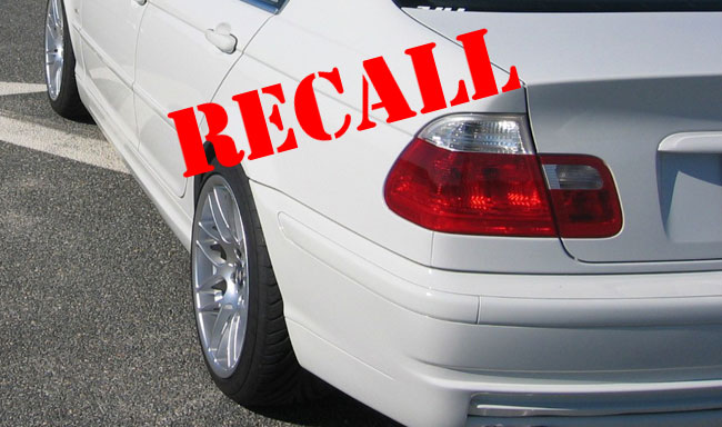 BMW recall for E46 tail lights