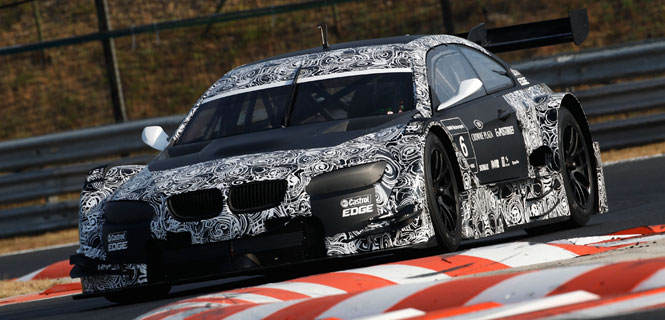 BMW testing DTM Race car at Hungaroring