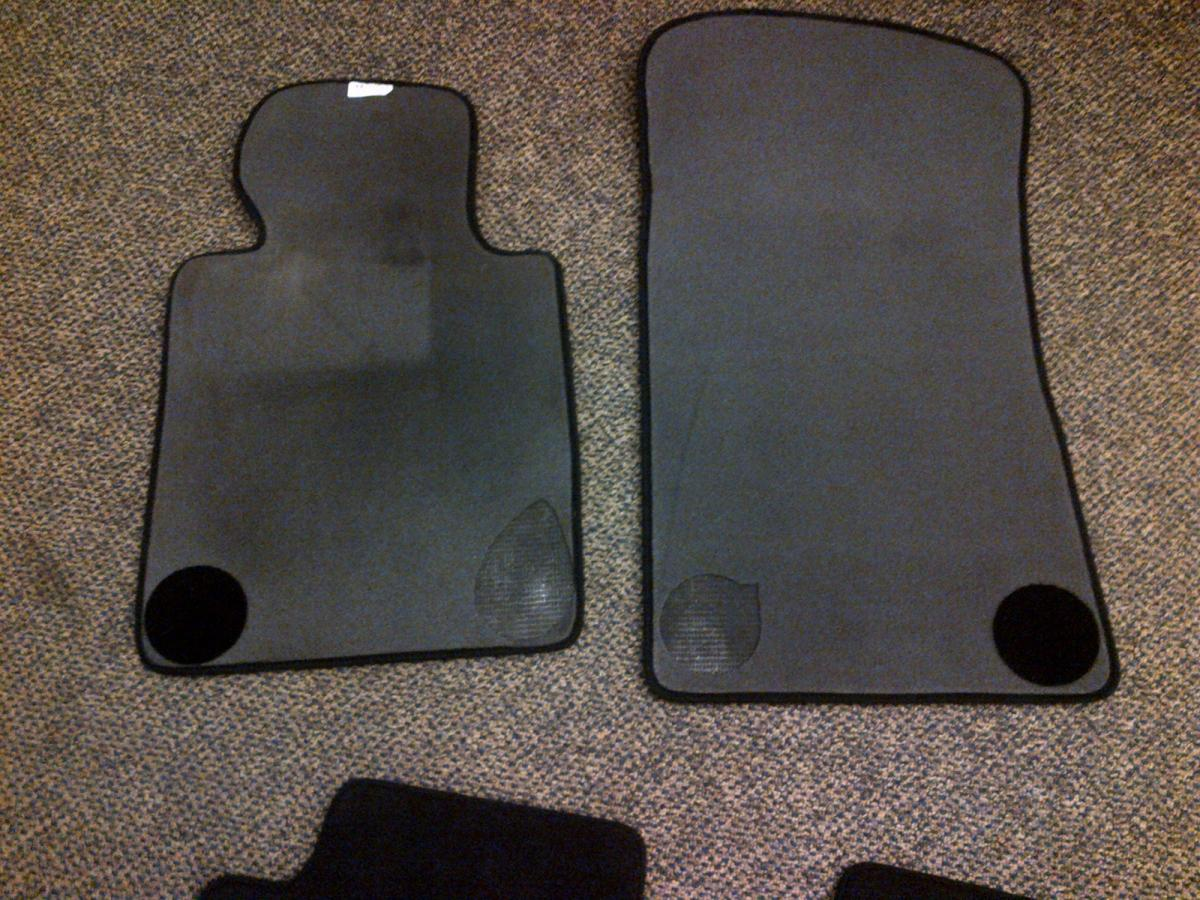 Black Sedan Floor Mats Bought Them New Last Summer Perfect Condition Except Part Of The Backing Is Ripped On Front 50