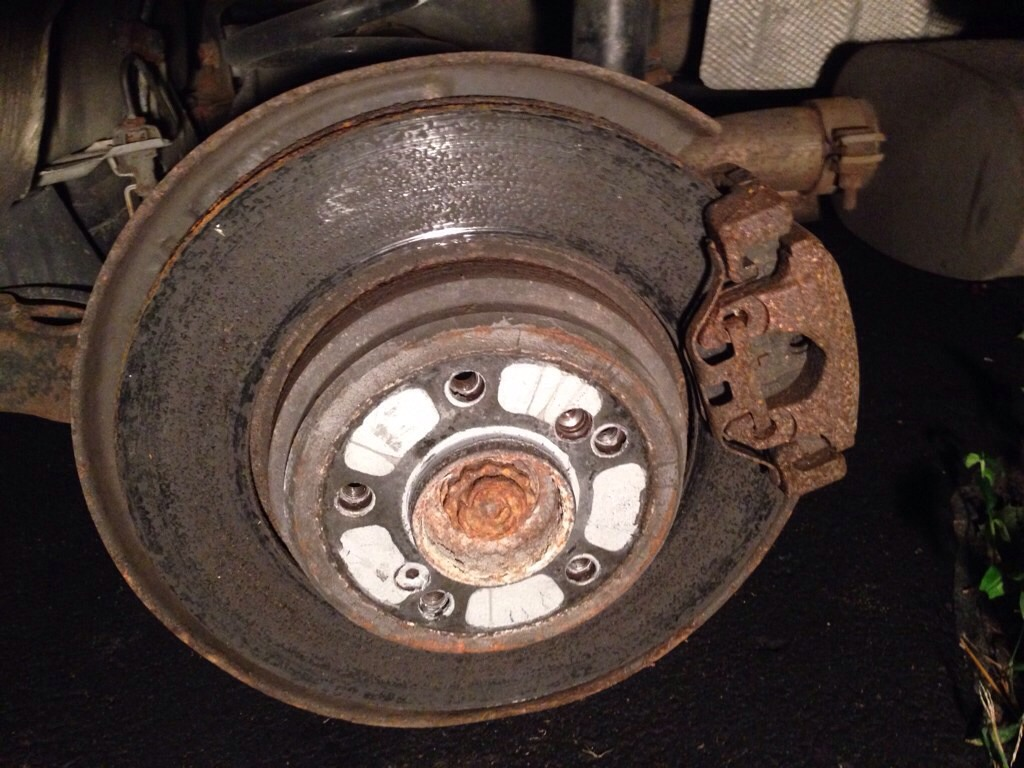 BMW E46 M3 rusty rotor