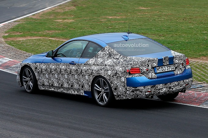 F32 4 series coupe on nurburgring