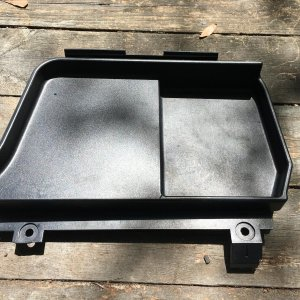 Battery cover tray top